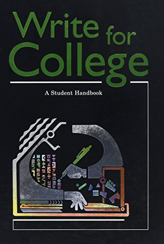 9780669000443: Write For College: A Student Handbook