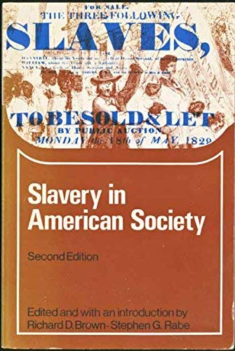 9780669000733: Slavery in American Society (College)