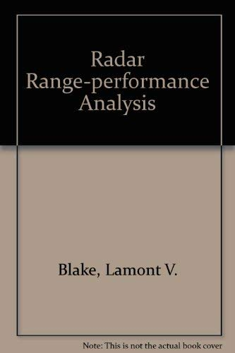 Radar Range-Performance Analysis: Blake, Lamont V