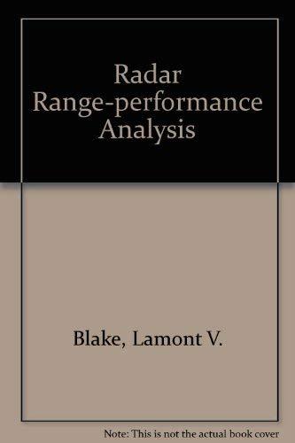 Radar Range-Performance Analysis: Blake, Lamont V