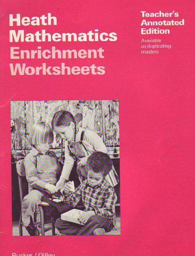 9780669012361: Heath Mathematics Enrichment Worksheets