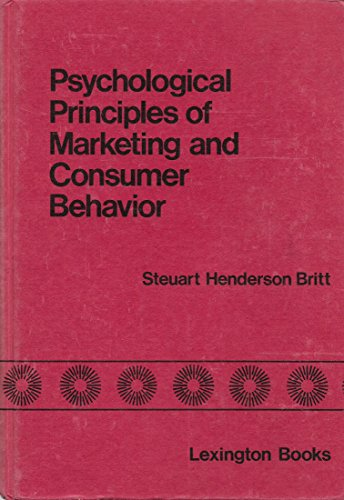 9780669015133: Psychological Principles of Marketing and Consumer Behaviour