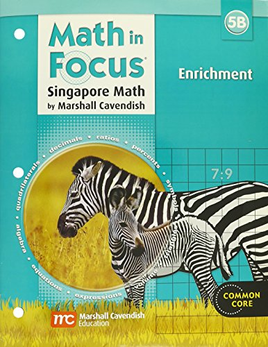 9780669015768: Math in Focus: Singapore Math: Enrichment Workbook Grade 5 Book B