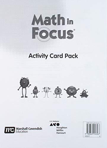 9780669016567: Math in Focus: Singapore Math: Teacher and Student Activity Cards Grade K