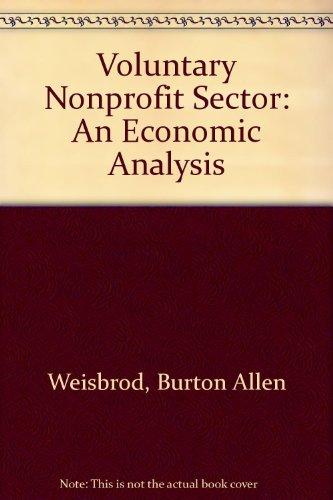 9780669017724: Voluntary Nonprofit Sector: An Economic Analysis