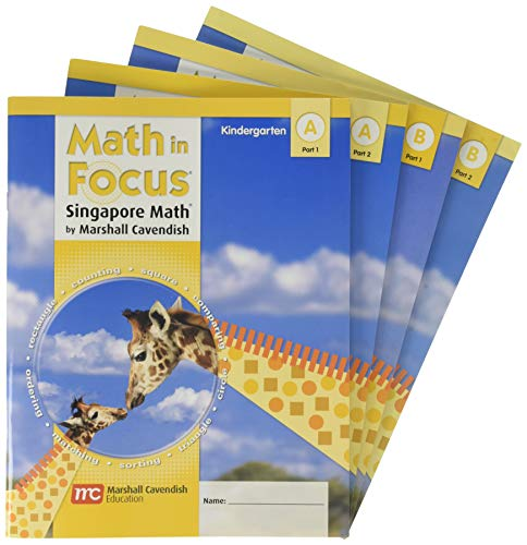 9780669025989: Math in Focus: Singapore Math: Student Edition Bundle, A & B Parts 1 & 2 Grade K 2009
