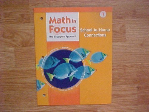 9780669026085: Math in Focus: Singapore Math: School-to-Home Connections Grade 1
