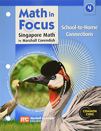 9780669027655: Math in Focus: Singapore Math School-to-Home Connections Grade 4