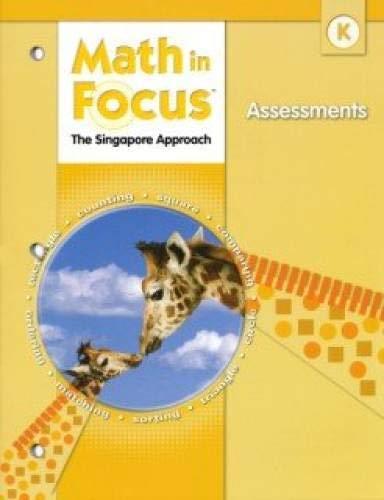 9780669028607: Math in Focus: Singapore Math: Assessments Grade K