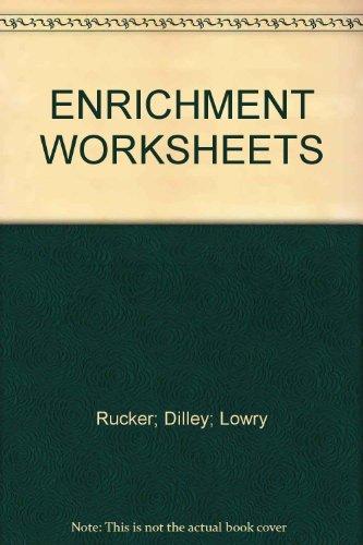 ENRICHMENT WORKSHEETS: n/a