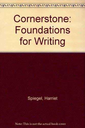 9780669045222: Cornerstone: Foundations for Writing