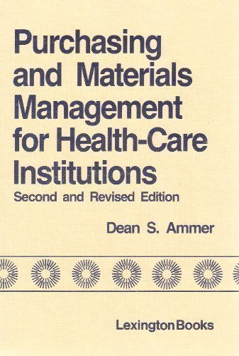 9780669049084: Purchasing and Materials Management for Health-Care Institutions