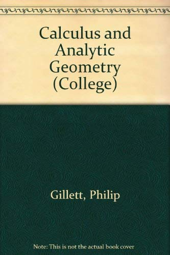 9780669060591: Calculus and Analytic Geometry (College)