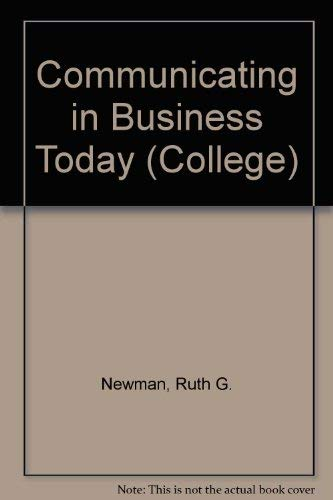 9780669063448: Communicating in Business Today (College)