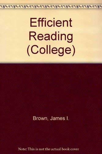 9780669066180: Efficient Reading (College)