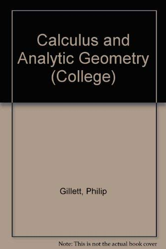 9780669076394: Calculus and Analytic Geometry (College)