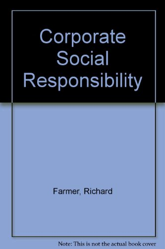 9780669102932: Corporate Social Responsibility