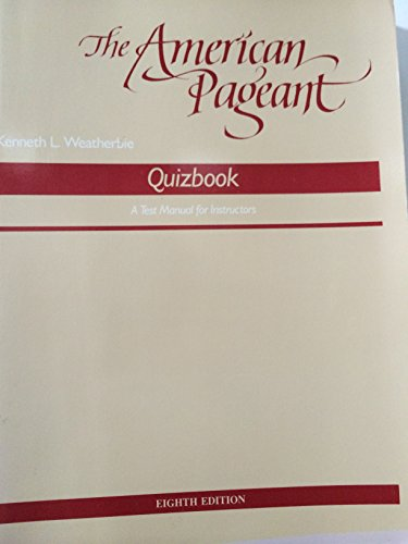 9780669108149: American Pageant: Quizbook (College)