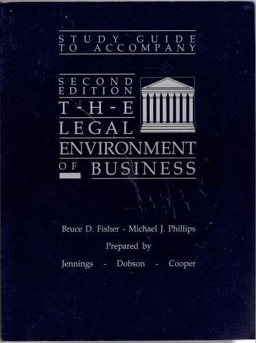 9780669111477: Study Guide for Business and Its Legal Environment