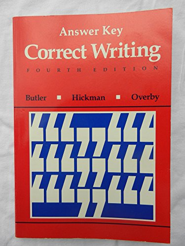 9780669117714: Correct Writing: Answer Key
