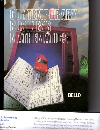 Contemporary Business Mathematics (College): Bello, Ignacio