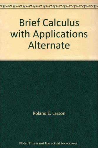 9780669121865: Brief Calculus with Applications Alternate