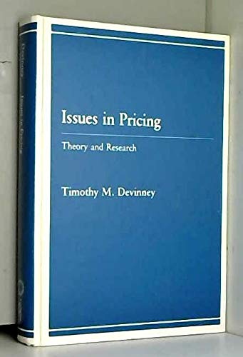 9780669132151: Issues in Pricing: Theory and Research