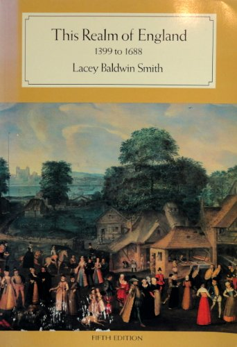 9780669134223: History of England: This Realm of England, 1399 to 1688 v. 2 (College)
