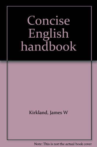 Concise English handbook: D.C. Heath