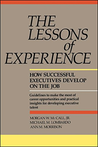 9780669180954: The Lessons of Experience: How Successful Executives Develop on the Job