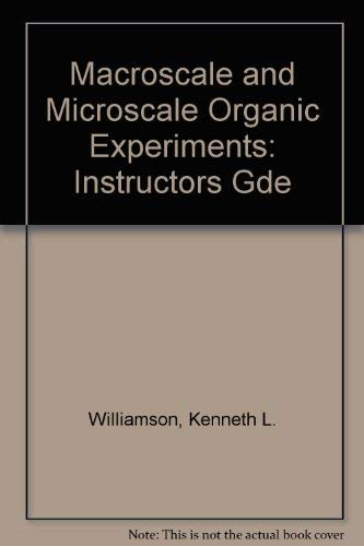 9780669194319: Macroscale and Microscale Organic Experiments: Instructors Gde