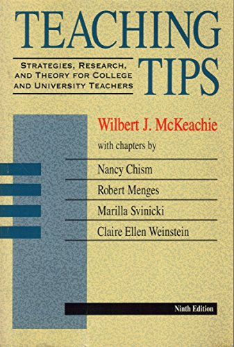 9780669194340: Teaching Tips: Strategies, Research, and Theory for College and University Teachers