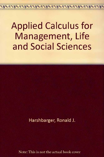 9780669194906: Applied Calculus: For Management Life and Social Sciences