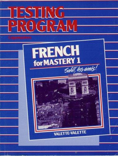 Testing Program Copymaster (French for Mastery 1, Testing Program Copymasters): n/a