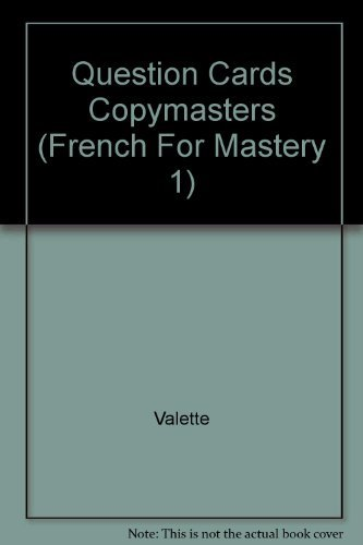 9780669200799: Question Cards Copymasters (French For Mastery 1)