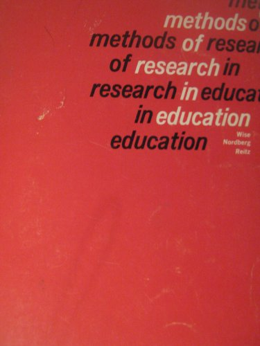 9780669201642: Methods of Research in Education