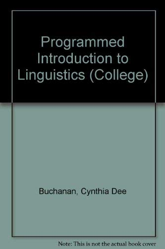 9780669204537: Programmed Introduction to Linguistics (College S)