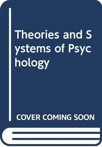 9780669208818: Theories and Systems of Psychology