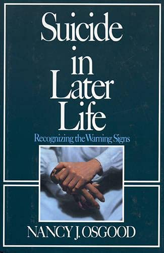 9780669212143: Suicide in Later Life: Recognizing the Warning Signs