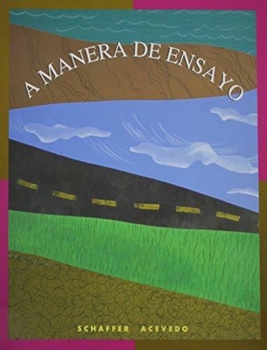 9780669219999: A Manera De Ensayo (World Languages) (English and Spanish Edition)