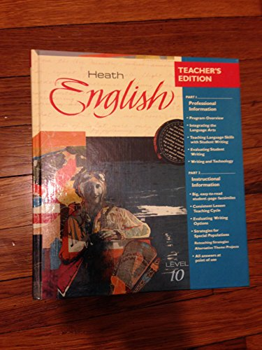 9780669221015: Heath English, Level 10 Teacher's Edition