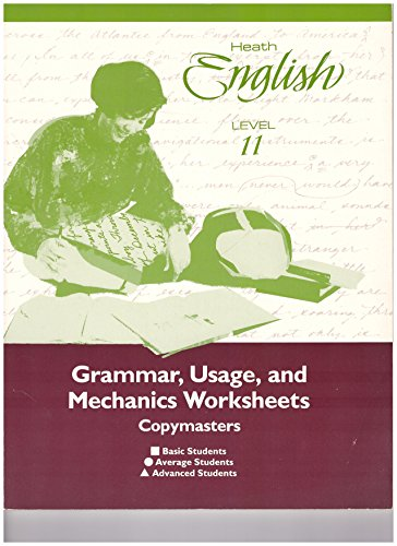 9780669221183: Heath English Grammar, Usage, and Mechanics Worksheets Copymasters Level 11