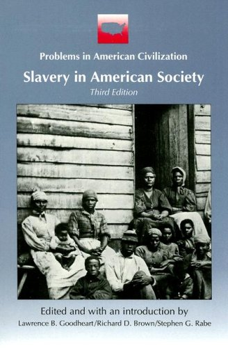 9780669244465: Slavery in American Society (Problems in American Civilization)