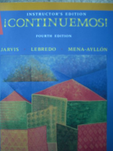 Continuemos: Instructor's Edition: Ana C. Jarvis,