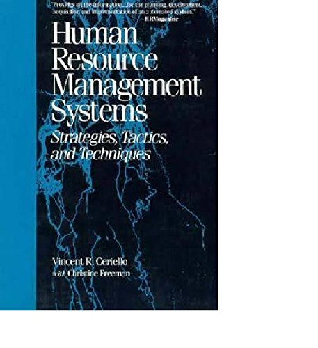 9780669248784: Human Resource Management Systems: Strategies, Tactics, and Techniques
