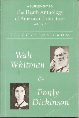 9780669249989: Whitman and Dickinson: Heath Anthology of American Literature