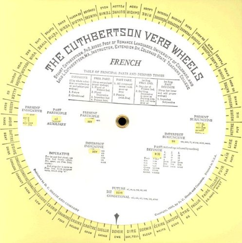 The Cuthbertson Verb Wheels: French: Stuart Cuthbertson