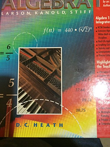 9780669267525: Algebra 1, Instructor's Edition