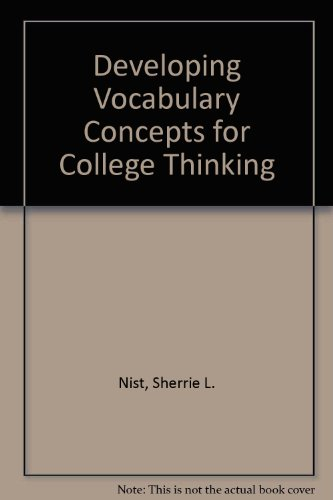 9780669279146: Developing Vocabulary Concepts for College Thinking