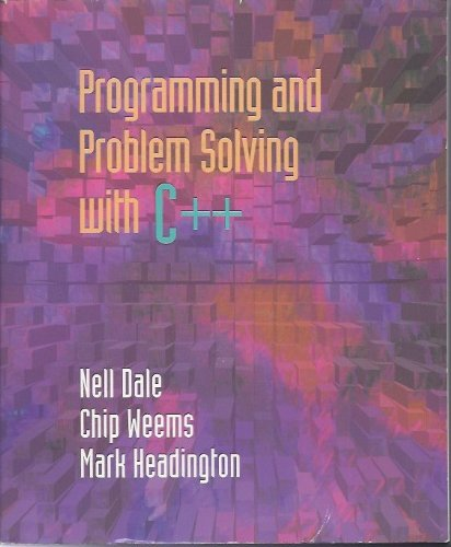 9780669297744: Programming and Problem Solving With C++